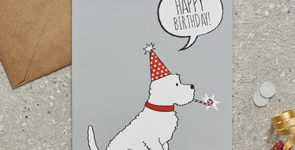 Party Hat Westie Happy Birthday Greeting Card