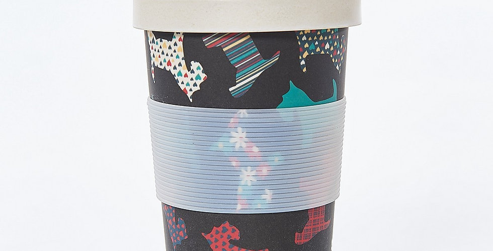 Eco Chic Bamboo Travel Cup - Pretty Scotties