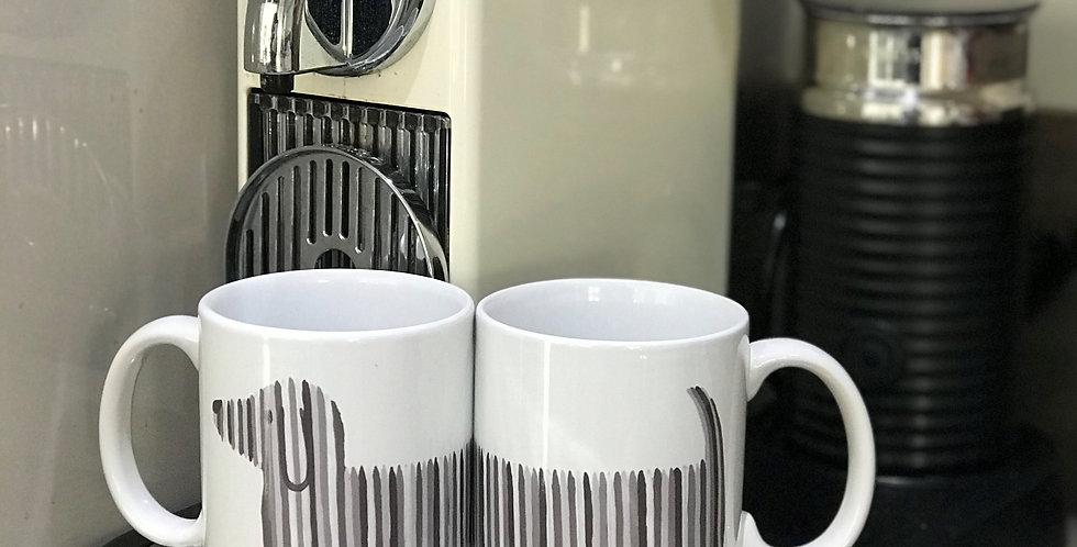 Dachshund Mug - Black & White