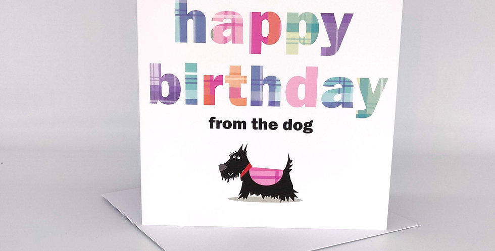 'Happy Birthday from the dog' Scottie Card