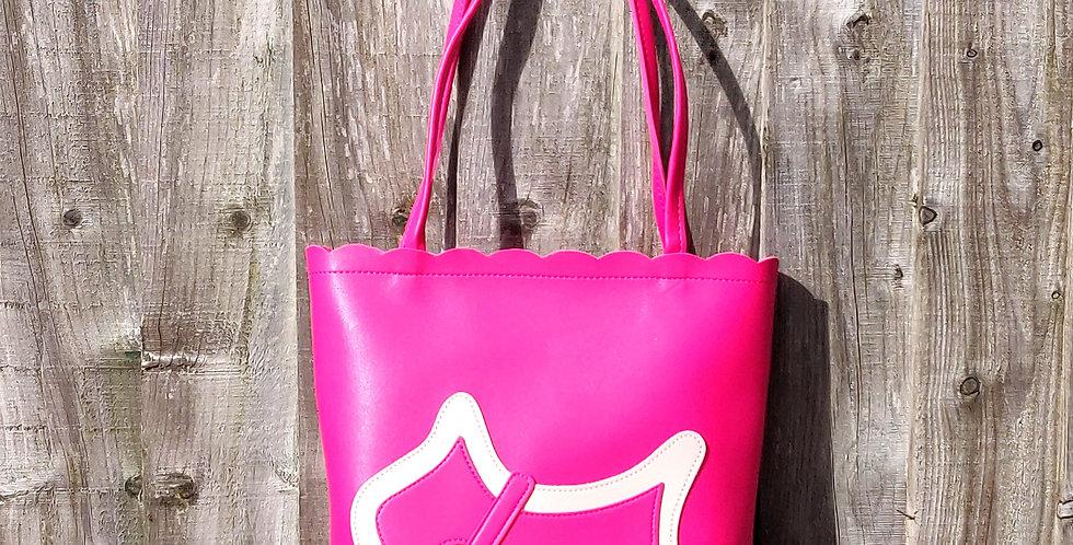 Scottie Dog Two Tone Shoulder Bag - Pink