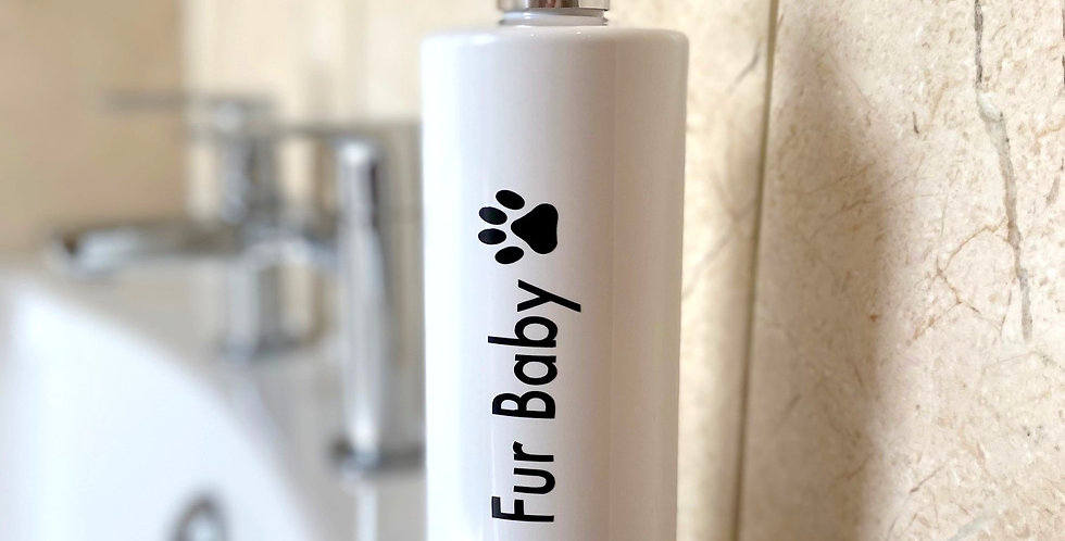 Dog Shampoo Pump Bottles - Shiny Fur Baby - White