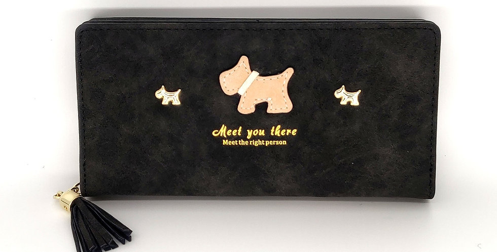 'Meet You There' Scottie Purse - Dark Grey