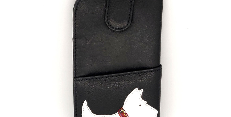 Scottie Dog Glasses Case - Black