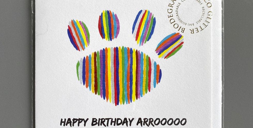 Happy Birthday ARROOOOO Greeting Card - Blank