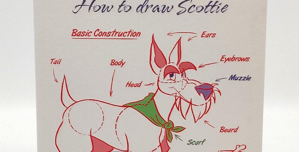 How to Draw a Scottie - Blank