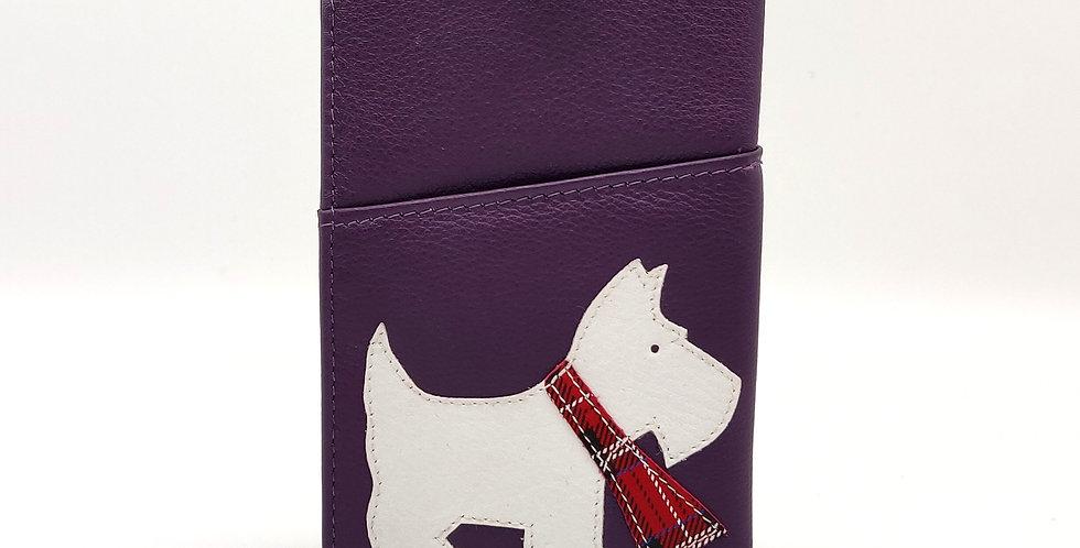 Scottie Dog Glasses Case - Purple