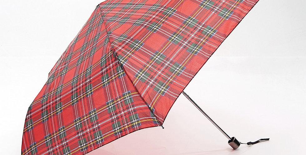Umbrella - Tartan, Folding recycled umbrella