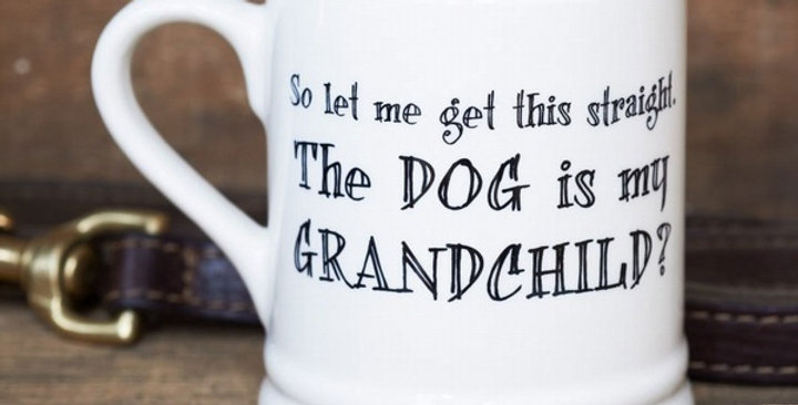The Dog is my Grandchild - Mug