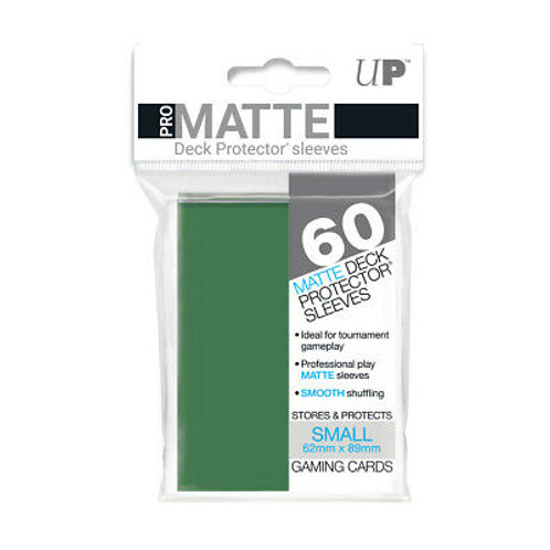 ULTRA PRO - SMALL CARD SLEEVES 60CT - PRO MATTE GREEN