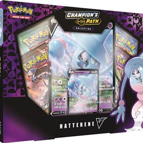 Pokemon Champion's Path Hatterene V Collection