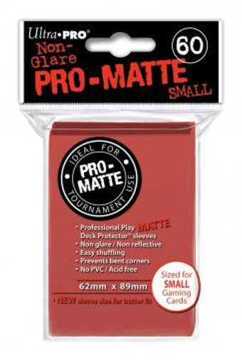 ULTRA PRO - SMALL CARD SLEEVES 60CT - PRO MATTE RED