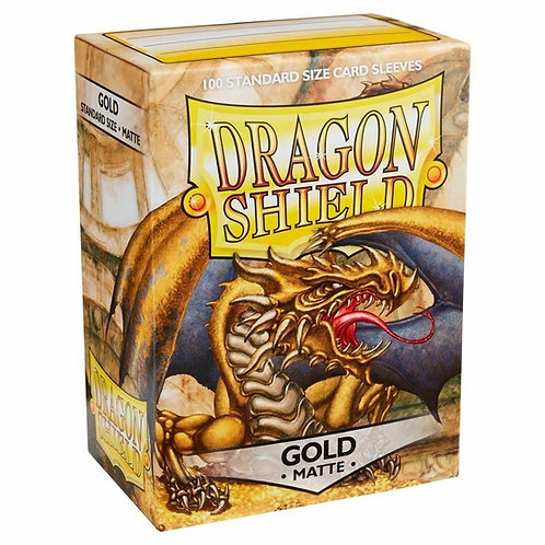 Dragon Shield Matte Gold 100ct