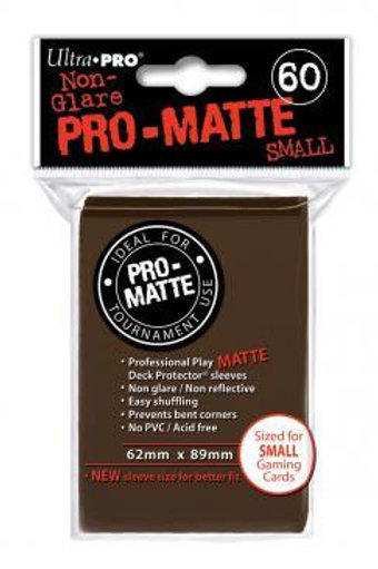 ULTRA PRO - SMALL CARD SLEEVES 60CT - PRO MATTE BROWN
