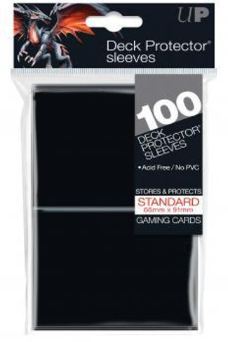 UltraPRO D-Pro Standard Sleeves 100ct - Black