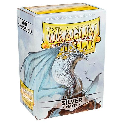 Dragon Shield Matte Silver 100ct