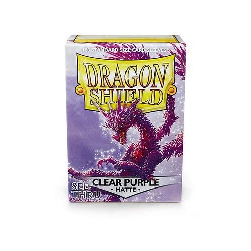 Dragon Shield Matte Clear Purple 100ct