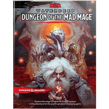 D&D Waterdeep Dungeon of the Mad Mage HC Book 5th Edition