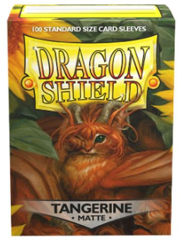 Dragon Shield Matte Tangerine 100ct