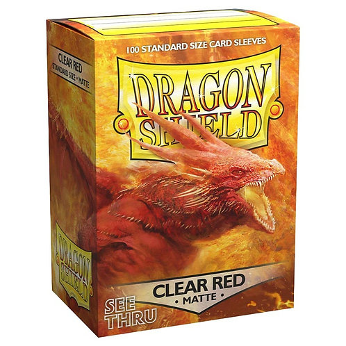 Dragon Shield Matte Clear Red 100ct