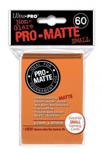 ULTRA PRO - SMALL CARD SLEEVES 60CT - PRO MATTE ORANGE