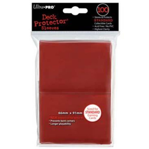 ULTRA PRO - STANDARD CARD SLEEVES 100CT - RED