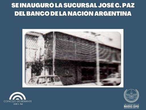 Inauguración Banco Nacían de José C. Paz
