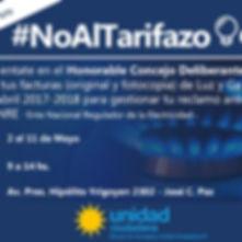 No al Tarifazo
