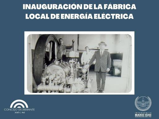 Inauguración de la fabrica local de Energía en José C.  paz