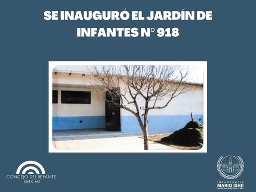 Inauguración Jardín de Infantes Nro. 918