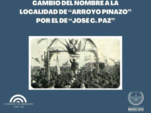 José C. Paz obtiene su nombre