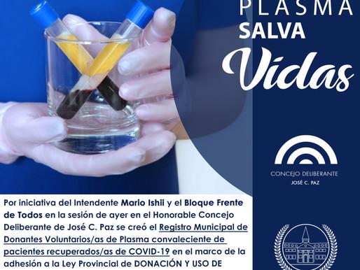 Donar plasma salva VIDAS