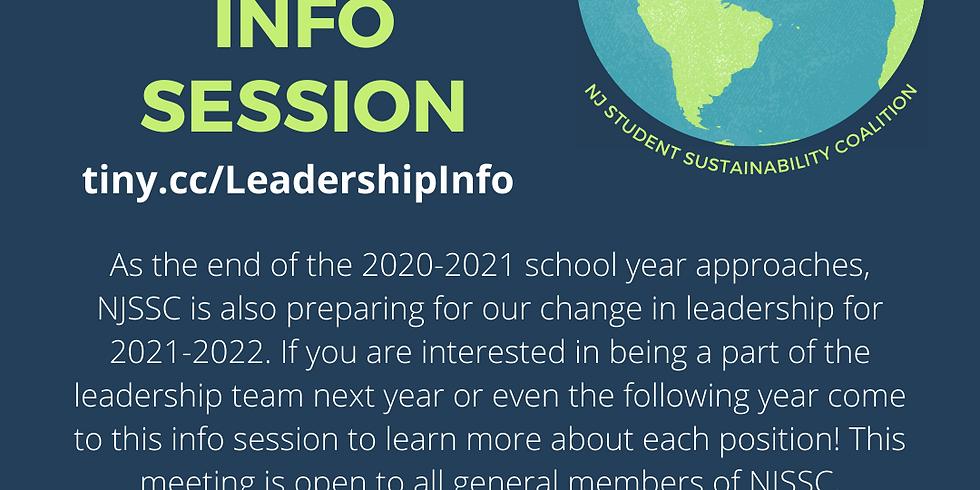 NJ Student Sustainability Coalition: Leadership Info Session