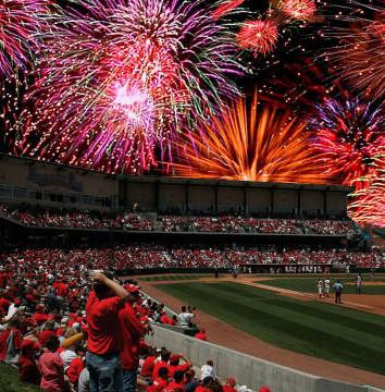 Baseball stadium fireworks
