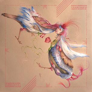 Ce foulard en soie illustré par Hélène Lagnieu est la contrepartie préférée de l'équipe Mirabilia Lyon