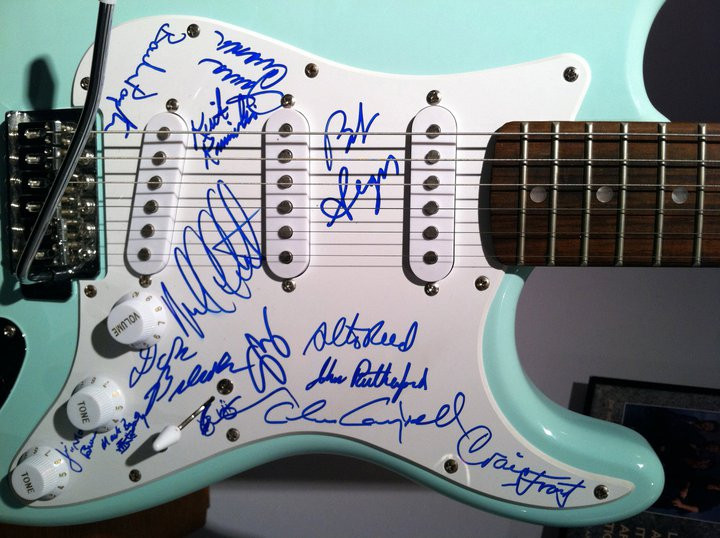 Signed by Seger band