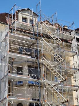 Fassadensanierung in Arbeit