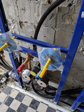 Badezimmersanierung mit Auswechslung der alten Leitungen