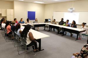 GOSA Representatives meeting with school officials and ELC parents.