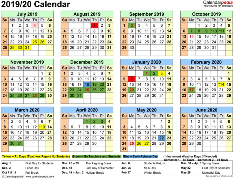 Baldwin County School Calendar 2016 2020 ACADEMIC CALENDARS | Baldwin County School District, Milledgeville, GA