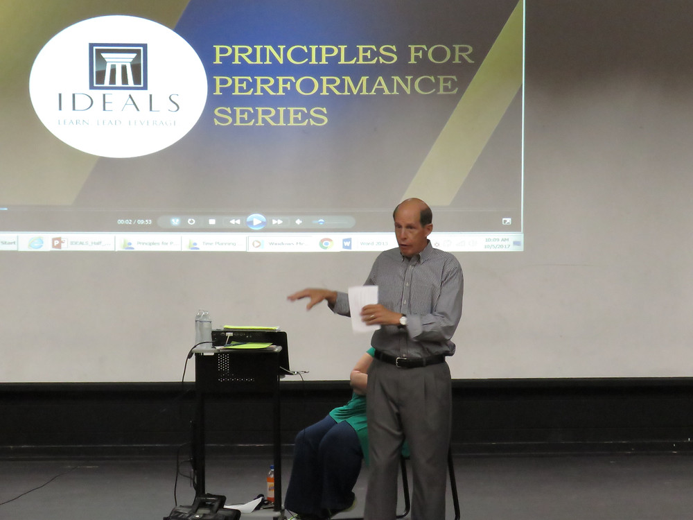 Mr. Jack Williams presenting Principles for Performance