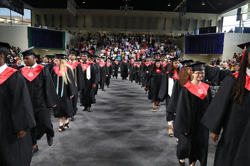 Graduates entering the 2019 BHS Commencement