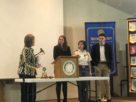 BHS Senior Rachel Ray Wins Rotary Speech Competition