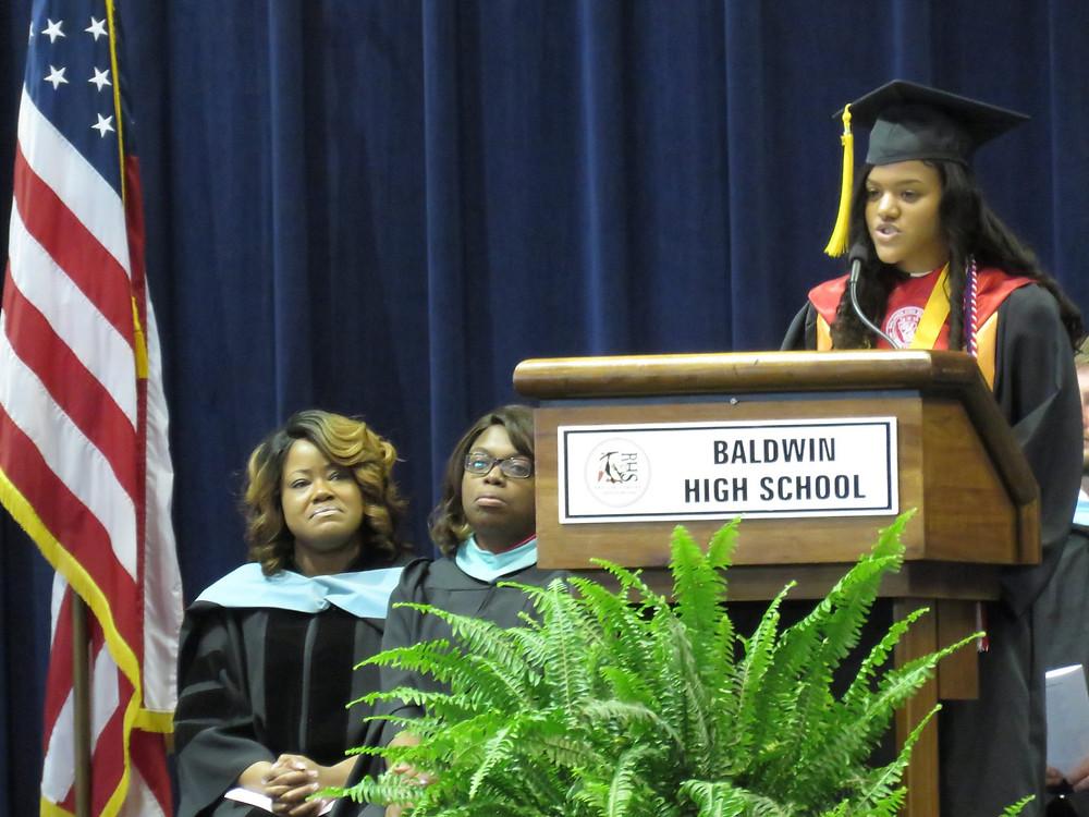 Valedictorian Ashleigh Hawk