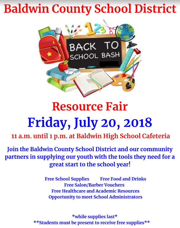 Back-to-School Bash Friday, July 20th