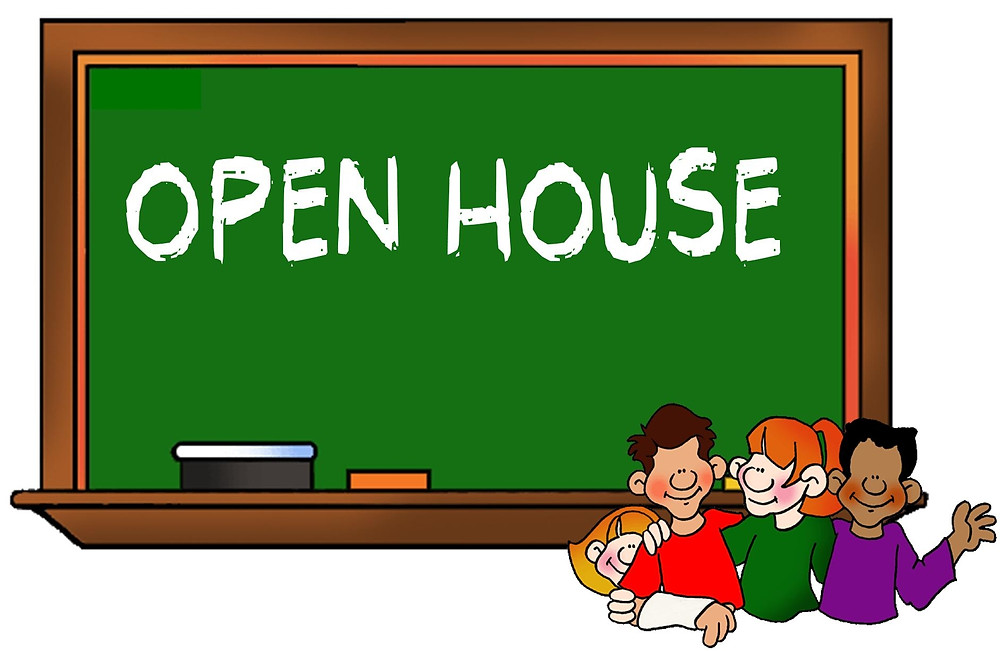 Open house graphic.