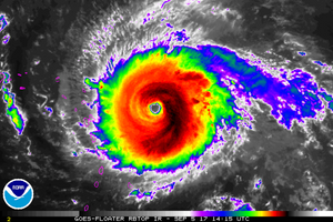 Radar image of Hurricane Irma