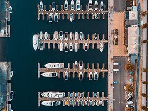 Aerial view on St Kilda sailing club, au