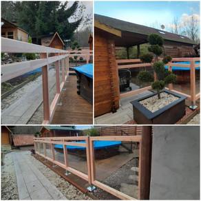 Barrières Douglas et verre protection piscine