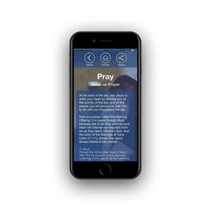 God Calls iPhone 7 Prayer page